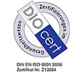 The DIOcert certification for the University Medical Center Hamburg-Eppendorf: ISO 9001